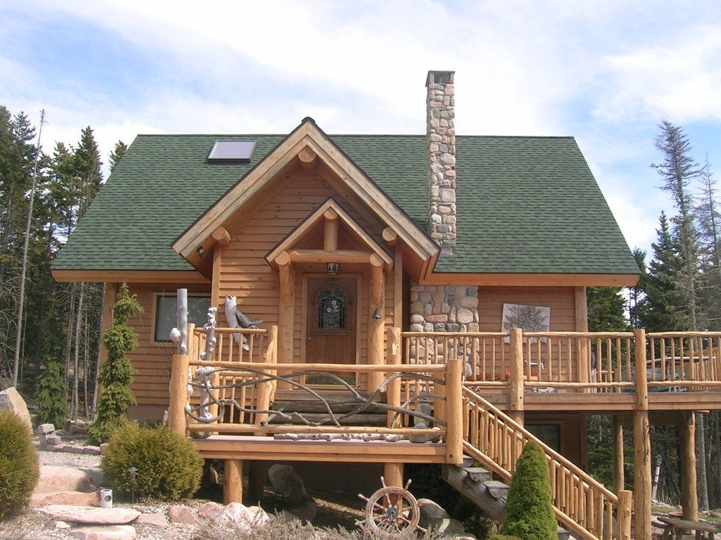 Tucker mountain log homes custom log homes tucker for Unique log homes